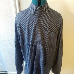 John Varvatos Star USA Mens Black Gingham Checked
